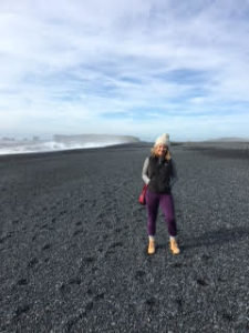 Taking in Iceland.