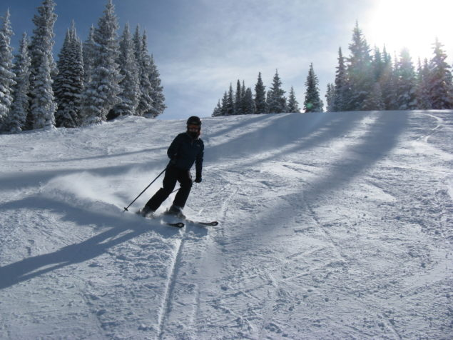 Holly skiing in Vail's Blue Sky Basin.