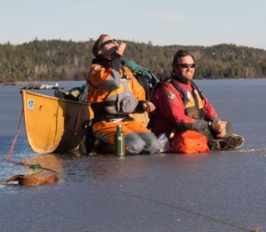 Amy and Dave on a BWCA lake. Photo courtesy of Amy Freeman.