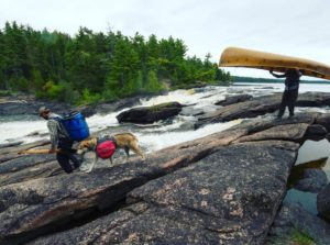 """A Year in the Wilderness"" passing Curtain Falls in the BWCA. Photo courtesy of Amy Freeman."