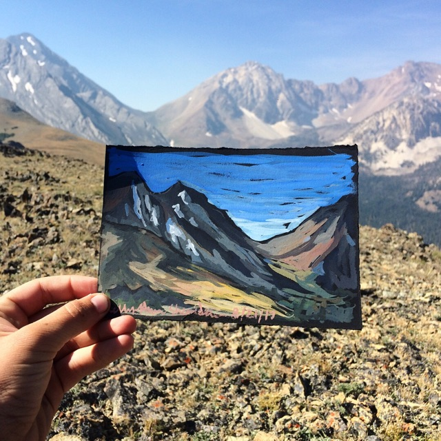 Kelly's art in the Lost River Range, Idaho.