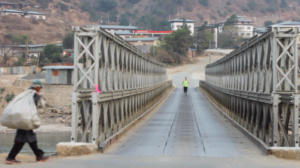 Crossing one of the Pho Chu River bridges. Photo by Alexandra Marvar.
