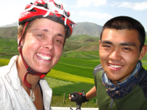 Sarah Outen and Gao 2,000 km into their trip to Beijing.